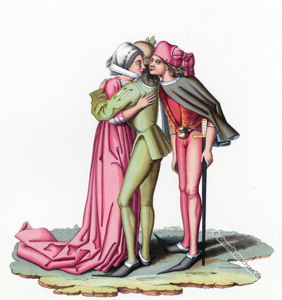 Kostümgeschichte, 15. Jahrhundert, Modegeschichte, Burgunder, Modeepoche, Mittelalter, Kostüme