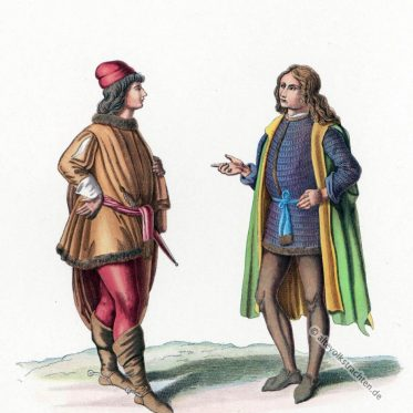 Italienischer Edelmann der Renaissance im 15. Jahrhundert