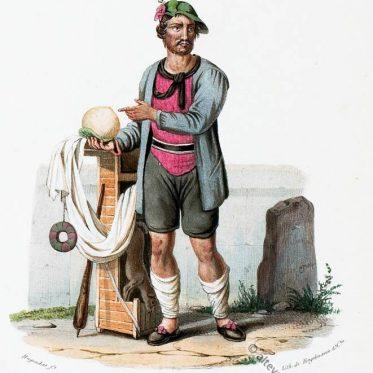 Tiroler Butterhändler aus dem Duxer Tal, um 1830