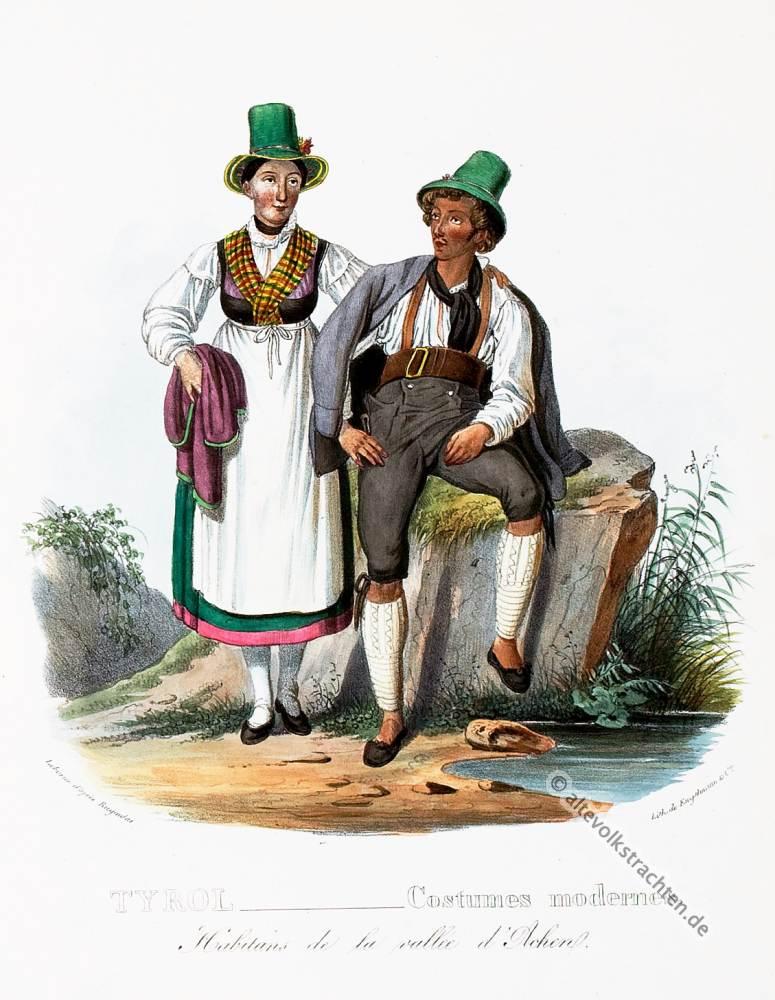 Tiroler Trachten, Achental, Tirol, Historische Tracht, Österreich,