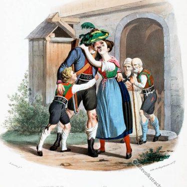 Tiroler Freiheitskämpfer um 1830.