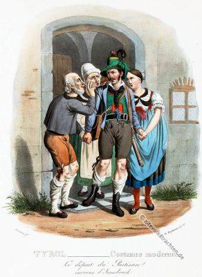 Freiheitskämpfer, Innsbruck, Tirol, historische Kostüme, Modegeschichte, Kostümgeschichte, Österreich, Historische Kleidung,