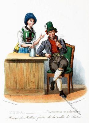 Tipi costumi Pusteria Tirolo, Trachten, Pustertal, Tirol, historische Kostüme, Modegeschichte, Kostümgeschichte, Österreich, Historische Kleidung,