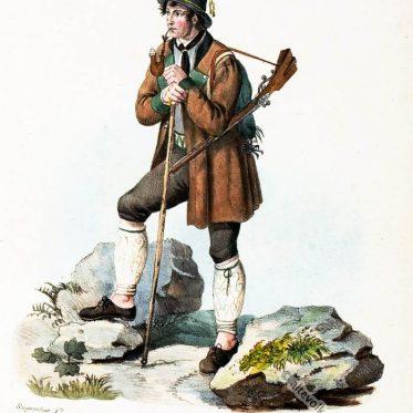 Jäger aus Flintsbach am Chiemsee um 1830.