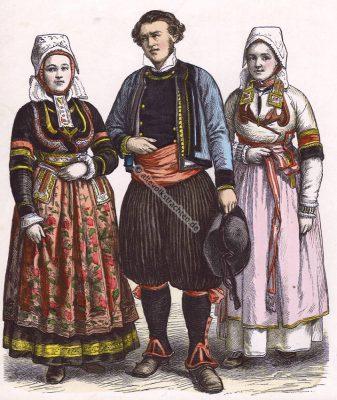 Trachten, Bretagne, Frankreich, Münchener Bilderbogen, Kostüme