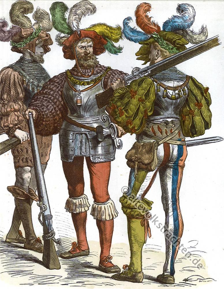 Landsknecht, Münchener Bilderbogen, Trachten, Landsknechte, 16. Jahrhundert, Militär, Kostüme