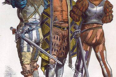 Landsknecht. Landsknechte,16. Jahrhundert Militär. Trachten. Kostüme