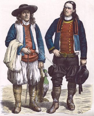 Bauerntrachten, Trachten, Bretagne, Frankreich, Münchener Bilderbogen, Kostüme