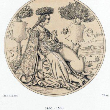 Renaissance. Frau mit Einhorn. Italien des 15. u. 16. Jh.