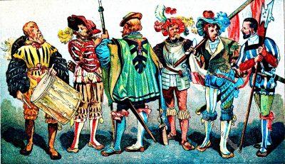 Landsknechte, Renaissance, Kostüm, Modegeschichte, 16. Jahrhundert