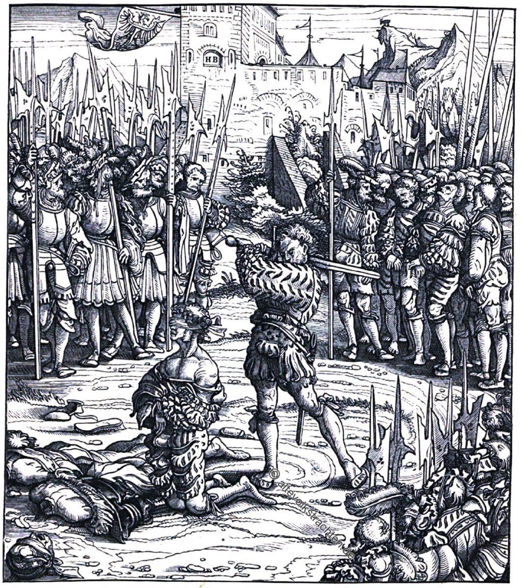 Pienzenau, Landsknechte, Bewaffnung, Soldaten, Renaissance
