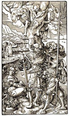 Urs Graf, Holzschnitt, Landsknechte, Buhlerin, Tod, Renaissance, Kunst