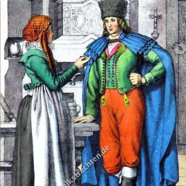 Trachten der Hannaken, Mähren um 1847.