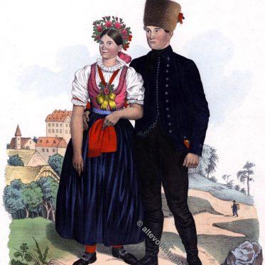 Lediges Paar aus dem Brünner Kreis, Herrschaft Lösch um 1837.