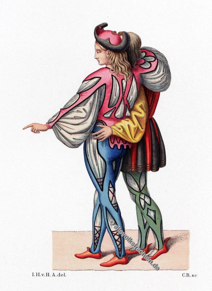 Renaissance, Kostüme, Kostümgeschichte, Hefner-Alteneck, Mi-Parti