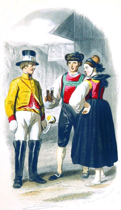 Postilion Kostüm. Gastwirt Kostüm.. Traditionell Baden Trachten