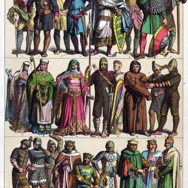 Normannen und Angelnormannen im Mittelalter.