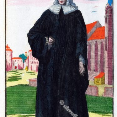 Geistlicher aus Nürnberg um 1690. Barockepoche.