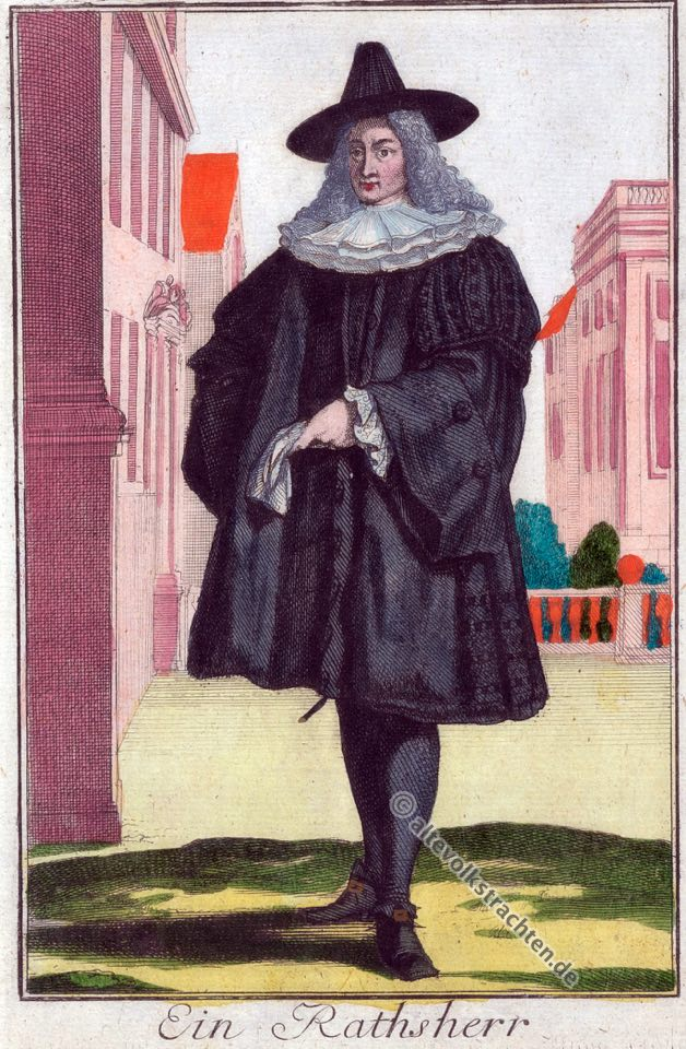 Ratsherr, Nürnberg, Barock, Mode, Kostüm, Tracht, 18. Jahrhundert, Geschichte, Bekleidung,