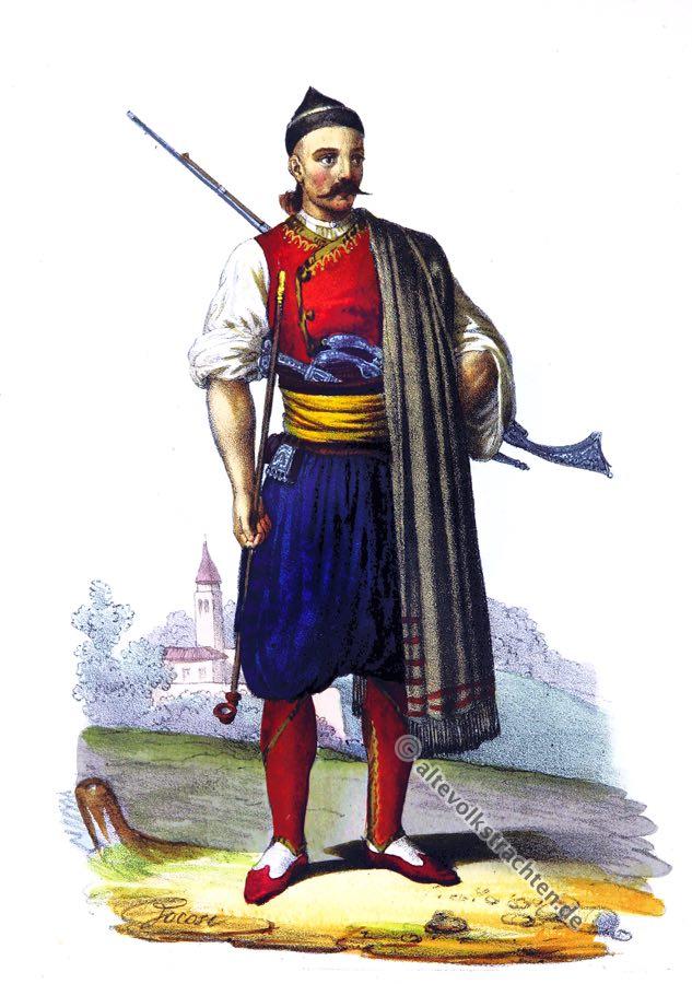Tracht, Canali, Konavle, Kroatien, Dalmatien, Balkan, historische Kleidung, Kostümgeschichte, Croatia