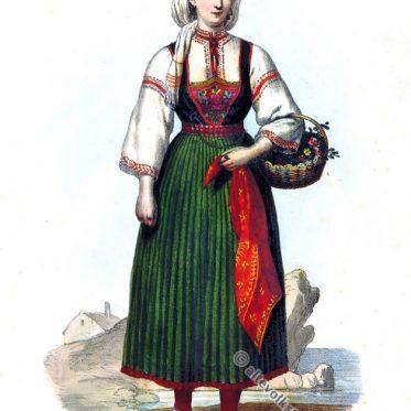 Bäuerin von den Inseln bei Zadar, Kroatien 1846