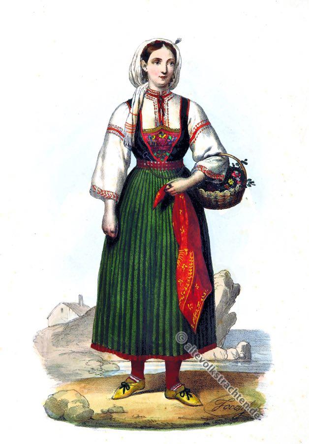 Tracht, Zadar, Kroatien, Dalmatien, Balkan, historische Kleidung, Kostümgeschichte