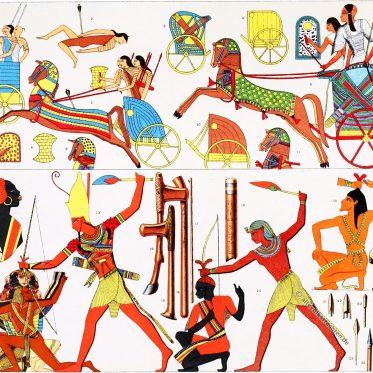 Ägyptische und asiatische Streitwagen