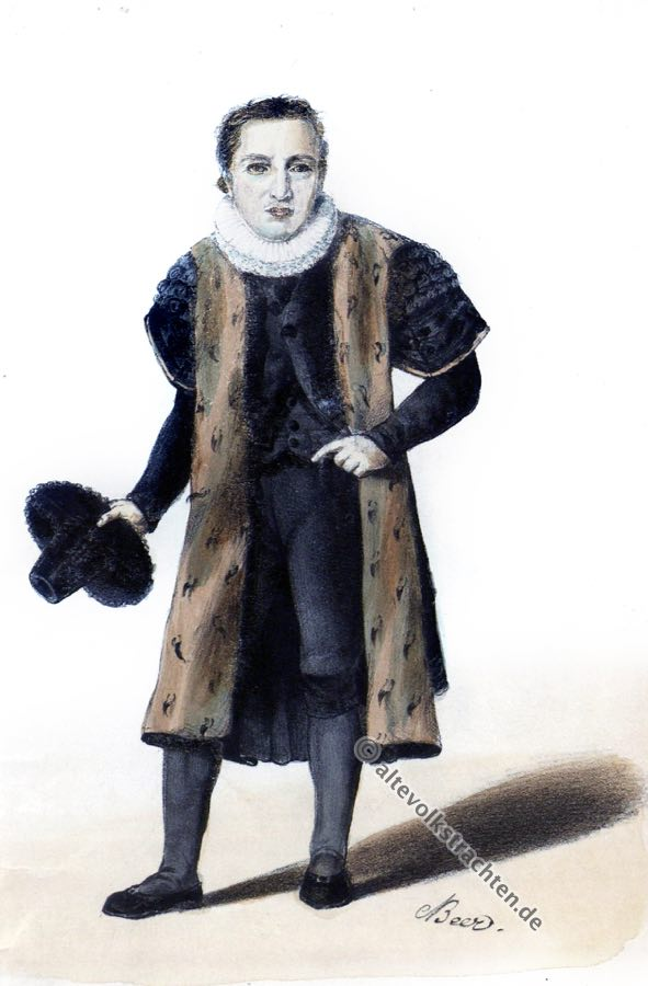 Hamburger Bürgermeister, Trachten, Kostümgeschichte, Kleidung, Historische Bekleidung