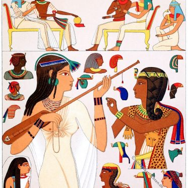 Die Kopfbedeckungen der alten Ägypter