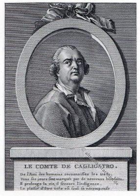 Cagliostro, Alessandro, Graf, Giuseppe Balsamo, Freimaurer.