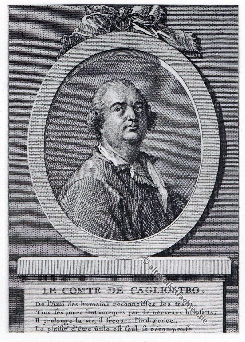 Alessandro Graf Cagliostro, Giuseppe Balsamo, Freimaurer.