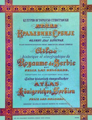 Atlas, Königreich, Serbien, Felix Lay, историјско, Краљевине, Србије, Felix Lay