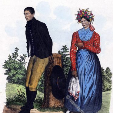 Herrschaft Solowitz bei Iglau. Lediges Paar um 1837.