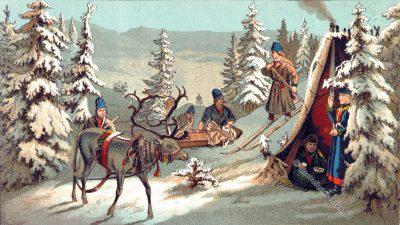 Lappmarken, Lappland, Lappen, Trachten, Norwegen, Samen, Volkstrachten, Skandinavien, Schweden