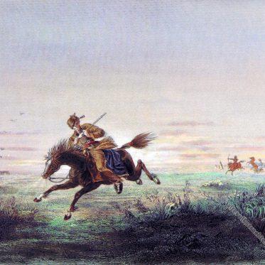 Pony Express Reiter. U.S. Postservice des 19.Jh
