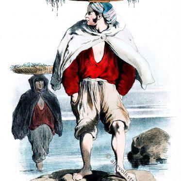 Sardinenfischer aus Belle-Isle-en-Mer, Bretagne 1865.
