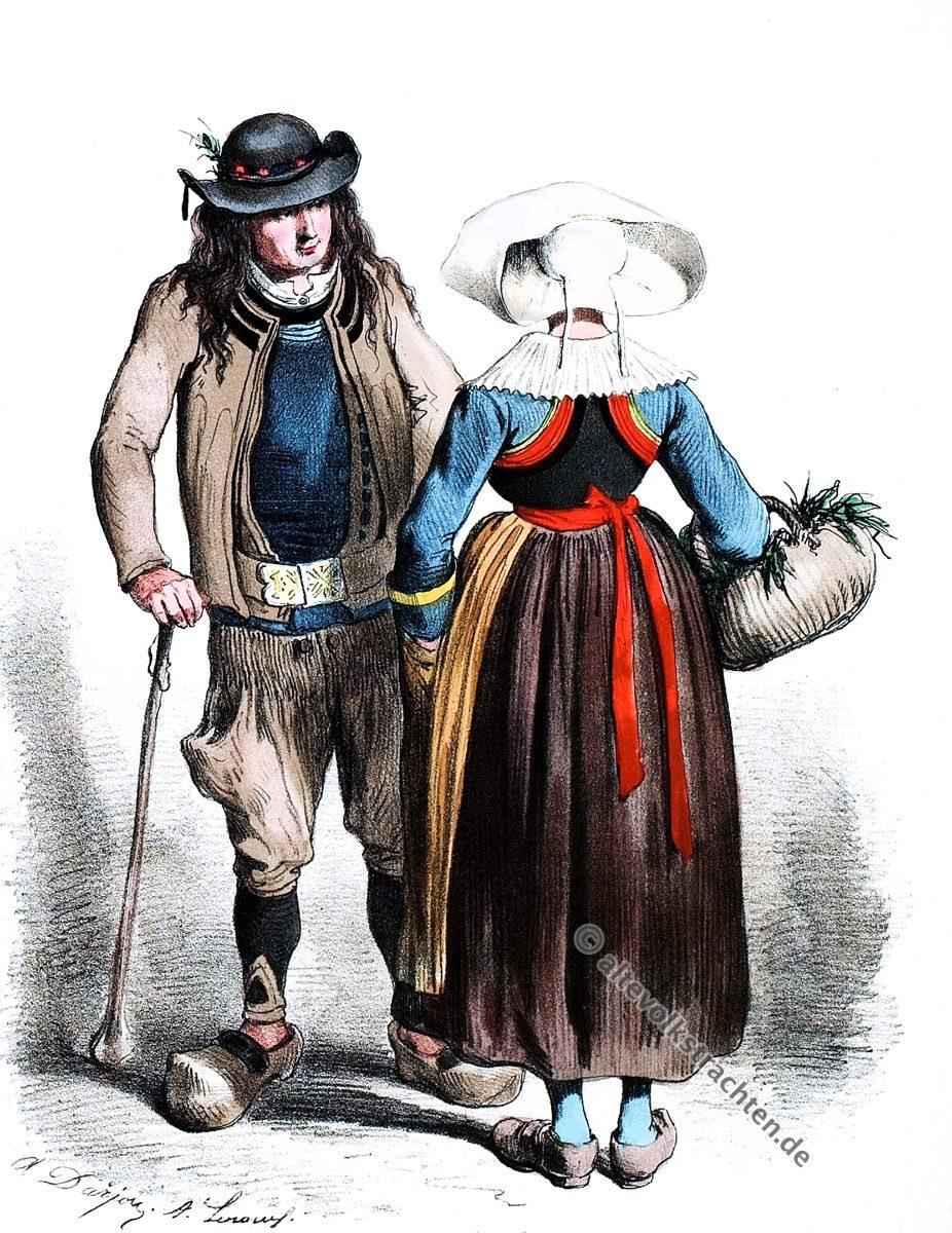 Scaër, Bretagne,Trachten, Historische Kleidung, Modegeschichte, Kostümgeschichte,