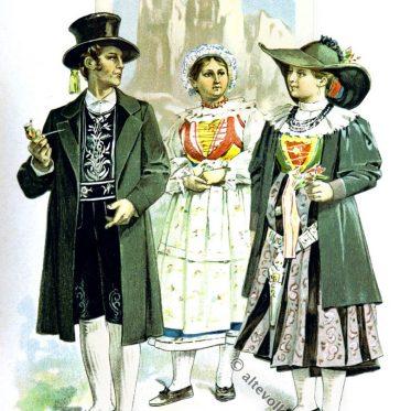 Historische Hochzeitsbräuche in Gröden, Tirol um 1860.