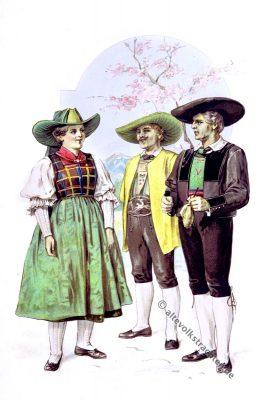 Mölten, Eggental, Südtiroler Trachten, Dolomiten, Tirol, Volkstrachten, historische Kleidung, Modegeschichte, Kostümgeschichte, Arthur Achleitner