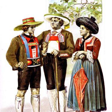 Tiroler Trachten aus Ötztal, Passeiertal im 19.Jh