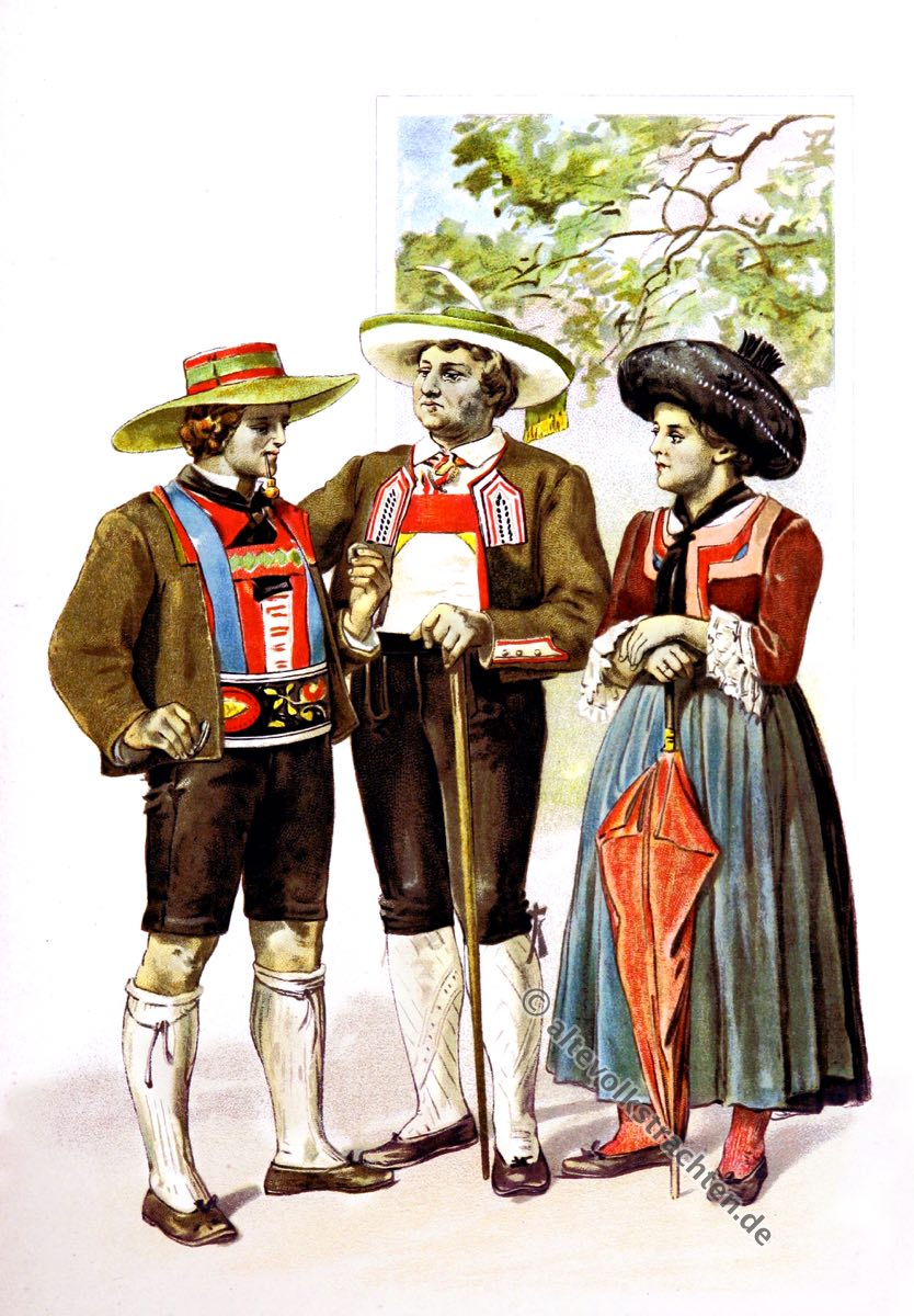 Tracht, Passeiertal, Ötztal, Südtiroler Trachten, Tirol, Volkstrachten, historische Kleidung, Modegeschichte, Kostümgeschichte, Arthur Achleitner