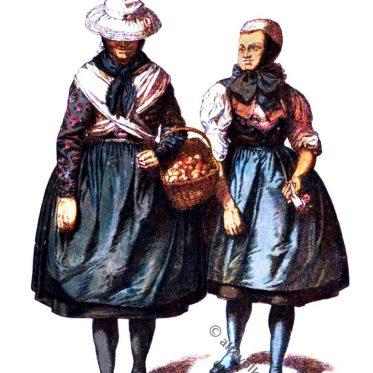 Bäuerinnen aus der Gegend von Dorn-Assenheim um 1900