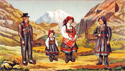 Setesdal, Sætersdal, Norwegen, Trachten, Volkskostüme, Historische Volkstrachten, Skandinavien