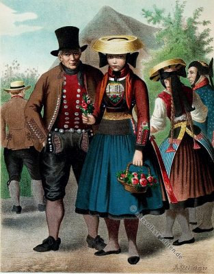 Vierlande, Tracht, Trachten, Trachtenmode, Kostümkunde, Volkstrachten, Bauertrachten, Modegeschichte, Kostümgeschichte, historische Kleidung, Trachtenmode