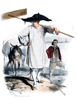 Batz-sur-Mer, Bretagne, Saunier, Trachten, Kostüme, Historische Kleidung, Kostümgeschichte, Modegeschichte, Alexandre Leroux
