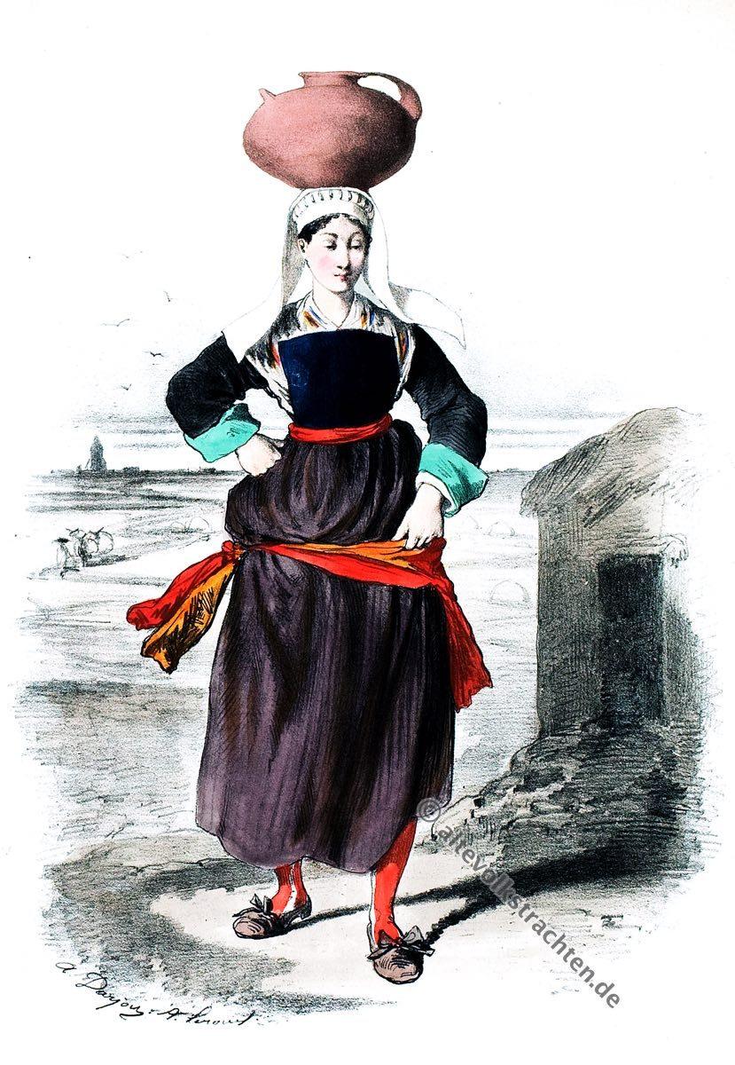 Guérande, Bretagne, Trachten, Kostüme, Historische Kleidung, Kostümgeschichte, Modegeschichte, Alexandre Leroux
