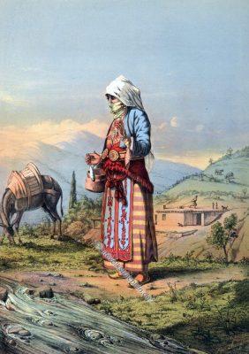 Bäuerin, Armenien, Armenische Trachten, Osmanisches Reich, Historische Kleidung, Türkei, Kostümgeschichte