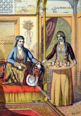 Damen, Armenien, Armenische Trachten, Osmanisches Reich, Historische Kleidung, Türkei, Kostümgeschichte
