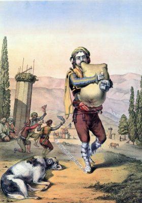 Dudelsack, Pfeifer, Armenien, Armenische Trachten, Osmanisches Reich, Historische Kleidung, Türkei, Kostümgeschichte