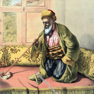 Ein türkischer Effendi. Osmanische Trachten.